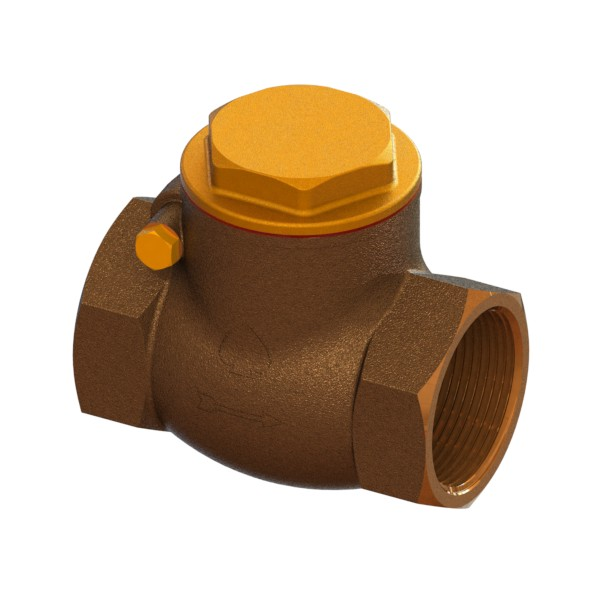 Full-bore bronze clapet check valve PN16 FEMALE-FEMALE