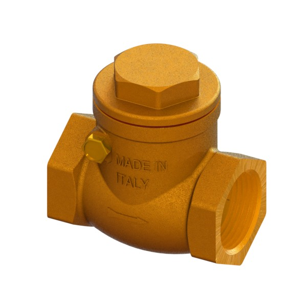 Full-bore brass clapet check valve FEMALE-FEMALE